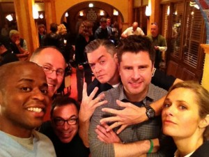 Dule Hill, Timothy Omundson, James Roday & Maggie Lawson. © 2013 Dule Hill.