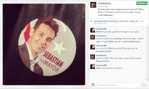 sebastian for Mayor button