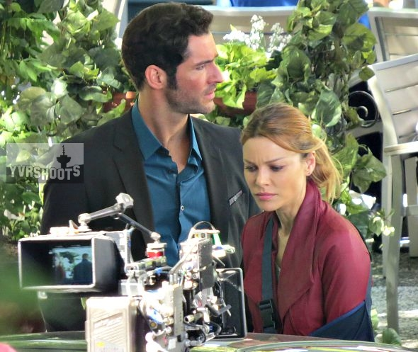 Photo Lucifer Season 3 Tricia Helfer As The Mother: Hollywood North